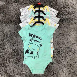Rococo   Infant Bodysuit   4 Pack   Farm Theme